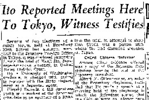 Ito Reported Meetings Here to Tokyo, Witness Testifies (March 28, 1942) (ddr-densho-56-725)