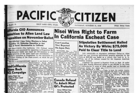 The Pacific Citizen, Vol. 23 No. 15 (October 19, 1946) (ddr-pc-18-42)