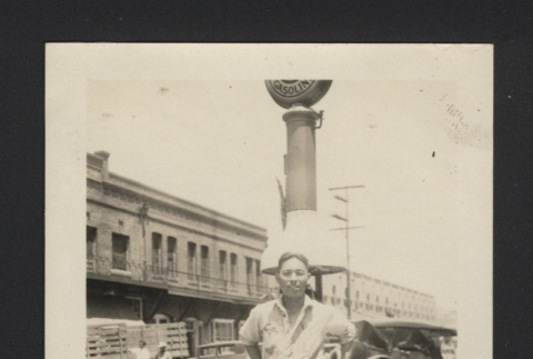 Photograph of Roy at West Side Garage (ddr-csujad-55-2655)