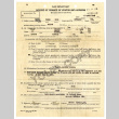 WAR Department report of change of status and address; Cash receipt (ddr-csujad-5-75)