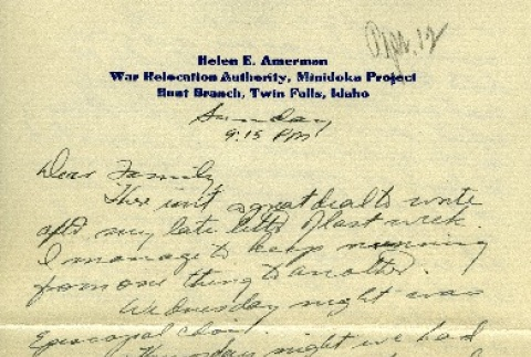 Letter from a camp teacher to her family (ddr-densho-171-21)