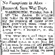 No Exceptions in Alien Removal, Says War Dept. (February 3, 1942) (ddr-densho-56-596)