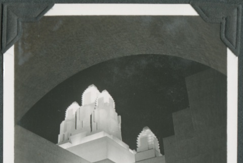 Night view of a building at the Golden Gate International Exposition (ddr-densho-300-183)