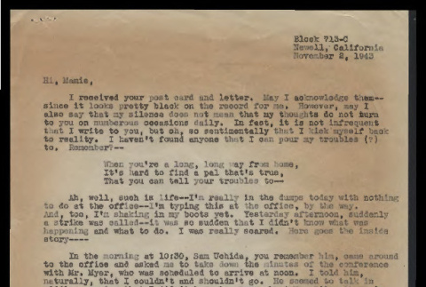 Letter to Mamie, November 2, 1943 (ddr-csujad-55-130)