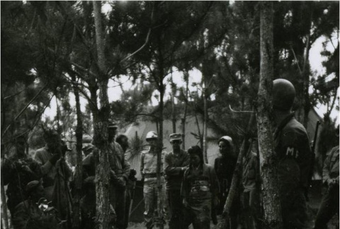 Marriage ceremony of a Japanese prisoner of war and an Okinawan civilian (ddr-densho-179-110)