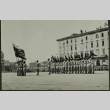 Soldiers in formation carrying flags (ddr-densho-201-388)