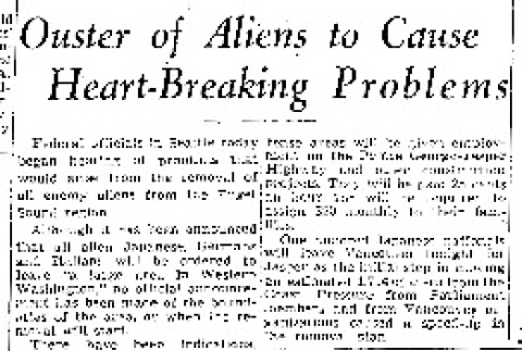 Ouster of Aliens to Cause Heart-Breaking Problems (February 17, 1942) (ddr-densho-56-630)