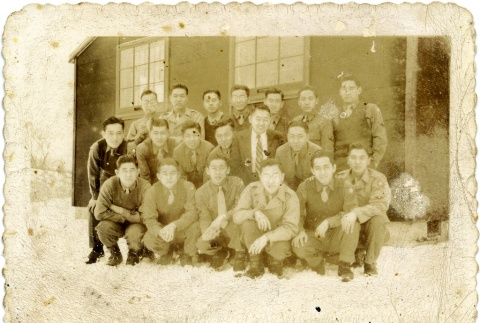 Group photograph of soldiers (ddr-densho-22-162)