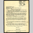 Letter from (sgd) Thomas Parran, Surgeon General, to Staff Nurse Mary F. Clark to Crystal City, Texas, December 8, 1942 (ddr-csujad-55-1350)