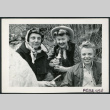 Photograph of Edna Anderson, Bernice Sibner, and Christine Little at a Manzanar hospital staff picnic (ddr-csujad-47-301)
