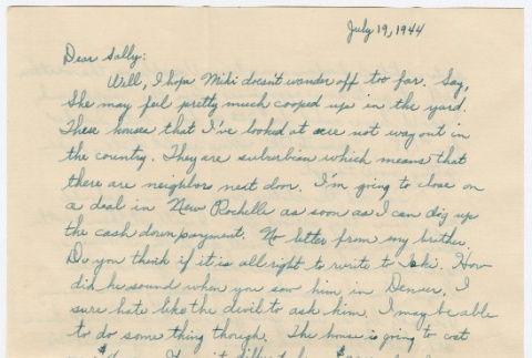 Letter to Sally Domoto from Kan Domoto (ddr-densho-329-191)