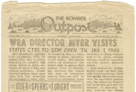 Rohwer Outpost: Vol. 6, No. 11 (January 31, 1945) (ddr-janm-6-2)