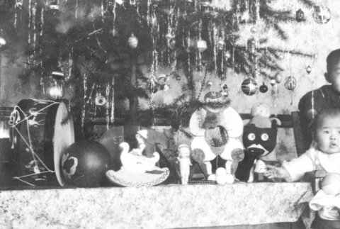 Children with Christmas tree (ddr-densho-92-6)