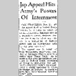 Jap Appeal Hits Army's Powers Of Internment (December 10, 1942) (ddr-densho-56-869)