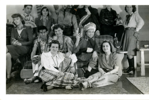 People posing in costume (ddr-csujad-26-141)