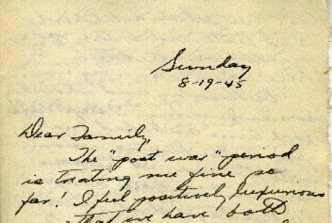 Letter from a camp teacher to her family (ddr-densho-171-78)