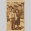 Couple in front of the Utah State Capitol (ddr-manz-10-38)
