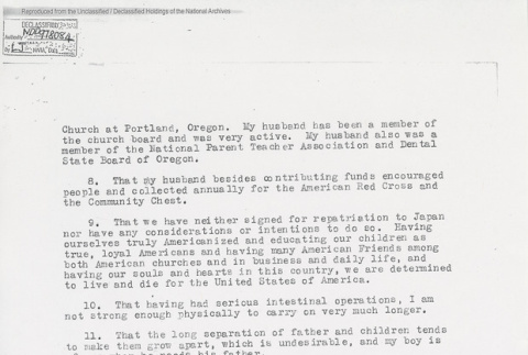 Application for the Rehearing in the internment of Keizaburo Koyama. Page 2 of 2. (ddr-one-5-202)