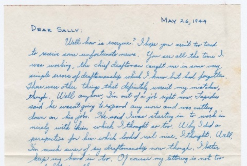 Letter to Sally Domoto from Kan Domoto (ddr-densho-329-171)