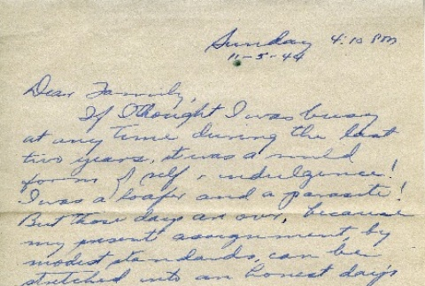 Letter from a camp teacher to her family (ddr-densho-171-63)
