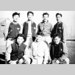 Young Nisei men in a concentration camp (ddr-densho-5-12)