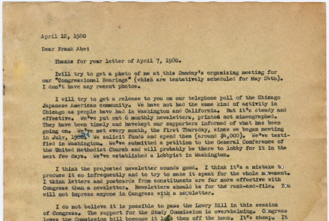 Letter to Frank Abe from William Hohri (ddr-densho-122-225)