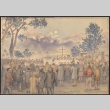 Painting of Easter service (ddr-manz-2-15)