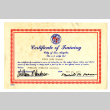 Certificate of training (ddr-csujad-42-6)
