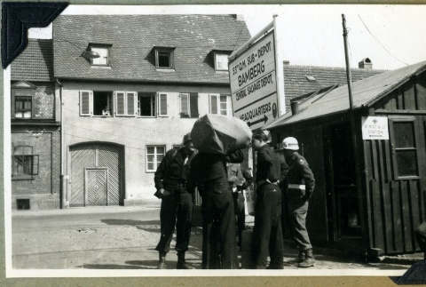 Soldiers at the 53rd Quartermaster headquarters (ddr-densho-22-85)