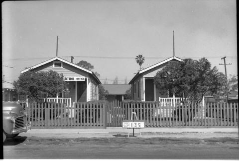 Patrol office and building labeled East San Pedro Tract 125 (ddr-csujad-43-51)