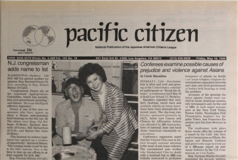 Pacific Citizen, Vol. 102, No. 19 (May 16, 1986) (ddr-pc-58-19)