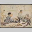 Painting of men in the sewing room (ddr-manz-2-28)