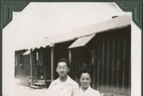 Young couple in camp (ddr-densho-321-52)