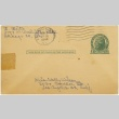 Postcard to Molly Wilson from Sandie Saito (October 26, 1944) (ddr-janm-1-23)