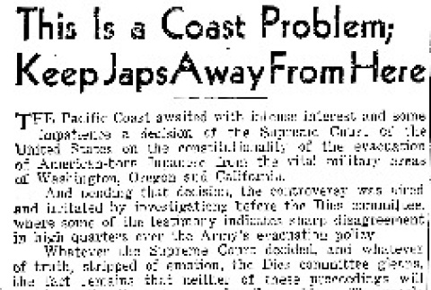 This Is a Coast Problem; Keep Japs Away From Here (June 21, 1943) (ddr-densho-56-941)