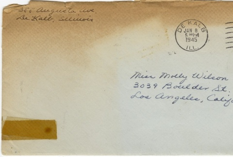 Letter (with envelope) to Molly Wilson from June Yoshigai (January 6, 1945) (ddr-janm-1-91)