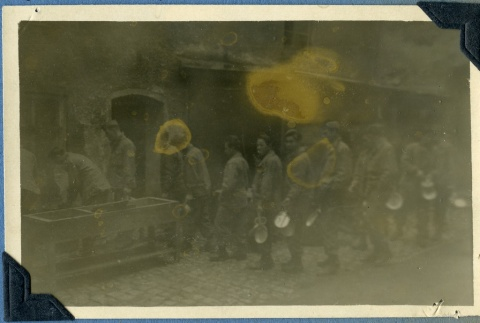 442nd soldiers cleaning up after a meal (ddr-densho-22-33)