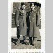 Two soldiers in front of a building (ddr-densho-22-170)