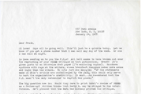 Letter from Michi Weglyn to Frank Chin, January 24, 1988 (ddr-csujad-24-32)