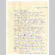 Letter from Itoko S. [Sano] to Dorothy Okine, August 6, 1946 (ddr-csujad-5-155)
