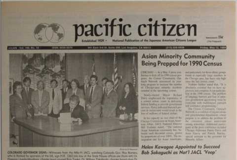 Pacific Citizen, Vol. 108, No. 18 (May 12, 1989) (ddr-pc-61-18)