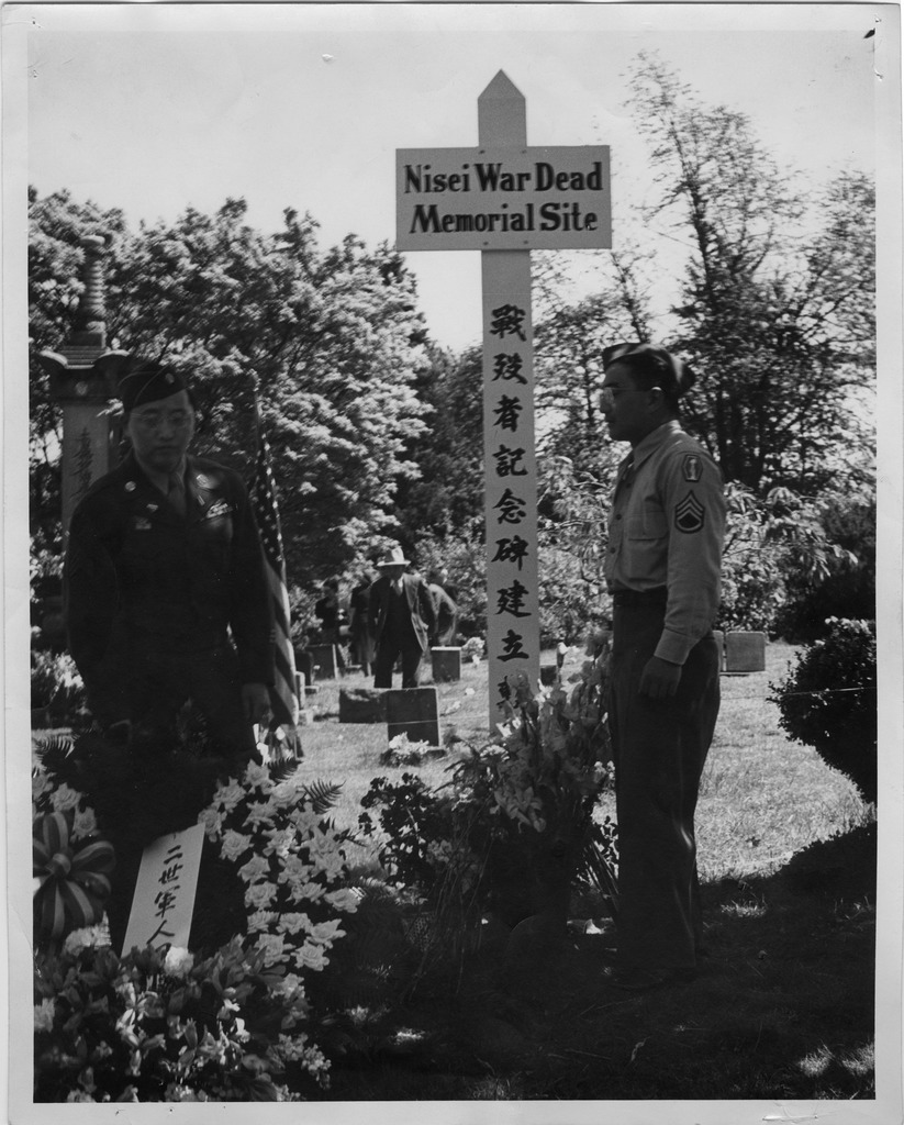 photo essay honoring fallen wwii ese american iers nisei veterans at memorial site 1948 seattle nisei veterans committee collection